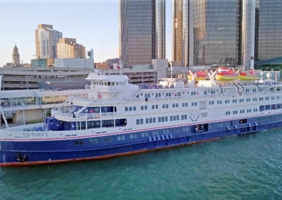 Victory I docked in Detroit
